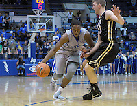 December 12, 2015 - Colorado Springs, Colorado, U.S. -  Air Force guard, Dezmond James #24, drives the lane during an NCAA basketball game between the Army West Point Black Knights and the Air Force Academy Falcons at Clune Arena, U.S. Air Force Academy, Colorado Springs, Colorado.  Army West Point defeats Air Force 90-80.