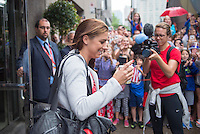Montreal, Canada - July 1, 2015:  The USWNT traveled to Vancouver for the FIFA Women's World Cup final at BC Place.