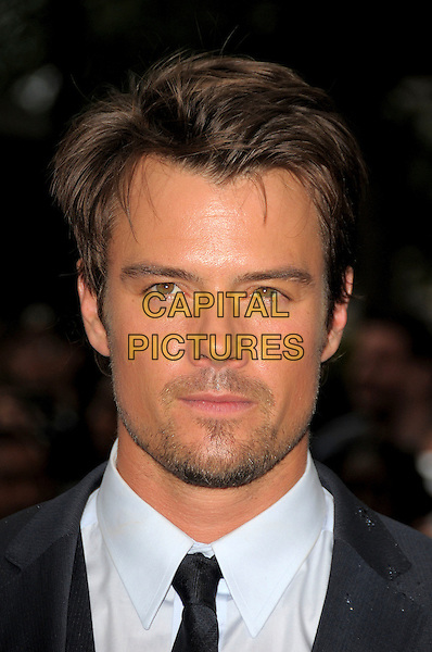 JOSH DUHAMEL.'Transformers: Revenge of the Fallen' .UK film premiere at Odeon cinema, Leicester Square, London, England..15th June 2009.headshot portrait black white stubble facial hair.CAP/CAS.©Bob Cass/Capital Pictures.
