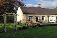 Pictured: One of the cottages on the grounds of Gasplant Manor<br /> Re: A manor house whose recording studio was used by Black Sabbath, Freddie Mercury and Hawkwind has gone up for sale.<br /> Gasplant in Capel Iwan, Carmarthenshire, has been listed on Zoopla for £1,100,000 and will tempt music fans as it comes with an illustrious rock history.<br /> The home's recording studio, which is now a holiday cottage within the manor grounds, was used throughout the 1970s by the world's top musicians including Queen frontman Freddie Mercury and Midlands rockers Black Sabbath.