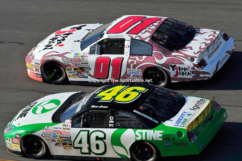 Feb 7, 2009; 4:50:04 PM; Daytona Beach, FL, USA; ARCA Remax Series Event 1 for the Lucas Oil Slick Mist 200 at Daytona International Speedway.  Mandatory Credit: (thesportswire.net)
