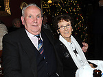 Ben and Doris Finnegan pictured at Collon Senior citizens chridtmas party in Watters lounge. Photo: Colin Bell/pressphotos.ie