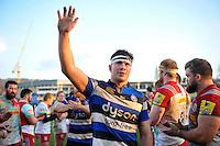 Francois Louw of Bath Rugby celebrates with the crowd. Aviva Premiership match, between Bath Rugby and Harlequins on February 18, 2017 at the Recreation Ground in Bath, England. Photo by: Patrick Khachfe / Onside Images