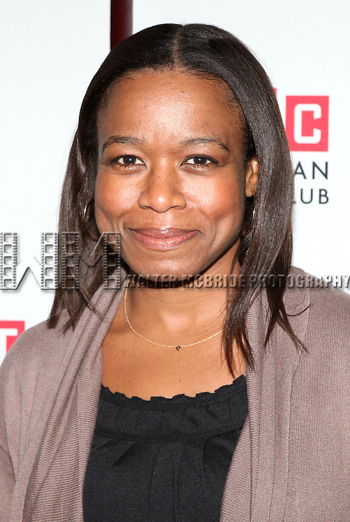 "Quincy Tyler Bernstine.attending the Manhattan Theatre Club's ""The Whipping Man"" Opening Night Party in New York City."