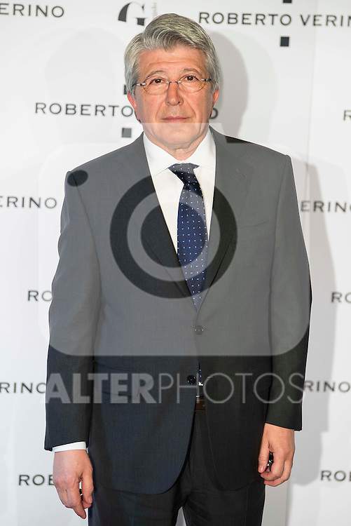 "Enrique Cerezo during the presentation of the new Spring-Summer collection ""Un Balcon al Mar"" of Roberto Verino at Platea in Madrid. March 16, 2016. (ALTERPHOTOS/Borja B.Hojas)"