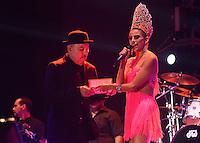 BARRANQUIILLA -COLOMBIA-17-FEBRERO-2015. Ruben Blades, un grande de la mœsica en el Festival de Orquestas 2015<br /> <br /> El panameno y los artistas urbanos del momento fueron los m‡s esperados y ovacionados.<br /> Miles de barranquilleros disfrutaron en el Romelio Mart'nez de una constelaci—n de grandes estrellas que con su mœsica iluminan el cielo barranquillero, en el tercer dia de Carnaval./  Ruben Blades, a large Music Festival Orchestra in 2015<br /> <br /> The Panamanian and urban artists of the time were the most anticipated and acclaimed.<br /> Thousands of barranquilleros enjoyed in the Romelio Martinez of a constellation of superstars whose music barranquillero light up the sky, on the third day of Carnival .Photo:VizzoImage / Alfonso Cervantes / Stringer