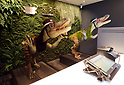 "March 15, 2017, Urayasu, Japan - Dinosaur robots greet guests at a reception of the newly opened ""Henn na Hotel"" (Strange hotel) near Tokyo Disney Resort in Urayasu, suburban Tokyo on Wednesday, March 15, 2017. Japan's travel agency H.I.S runs the Henn na Hotel which has only seven human employees while nine types 140 robot staffs work at the 100-room six-storey hotel.    (Photo by Yoshio Tsunoda/AFLO) LwX -ytd-"