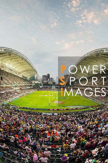 Action on Day 2 of the Cathay Pacific / HSBC Hong Kong Sevens 2013 on 23 March 2013 at Hong Kong Stadium, Hong Kong. Photo by Victor Fraile / The Power of Sport Images