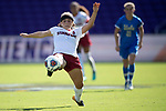 ORLANDO, FL - DECEMBER 03: Jaye Boissiere #7 of Stanford University stretches for the ball against UCLA during the Division I Women's Soccer Championship held at Orlando City SC Stadium on December 3, 2017 in Orlando, Florida. Stanford defeated UCLA 3-2 for the national title. (Photo by Jamie Schwaberow/NCAA Photos via Getty Images)