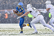 PHILADELPHIA, PA - DEC 9, 2017: Navy Midshipmen Quarterback Malcolm Perry (10) tries to escape the tackle of Army Black Knights linebacker Cole Christiansen (54) during game between Army and Navy at Lincoln Financial Field Philadelphia, PA. Army defeated Navy 14-13 to win the Commander in Chief Cup. (Photo by Phil Peters/Media Images International)