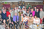 2407-2411.PROUD PARENTS: Pat Joe Cournane and Katty O'Shea, Keel, Castlemaine (seated centre) who had their new baby Paddy christened in St Gobnait's Church, Keel by Fr Luke Roche on Saturday and celebrated afterwards with a party in the Anvil bar, Boolteens, last Saturday.