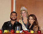 "Anthony Becht & Lisa LoCicero with Kaitlin Wagoner (Queen Pomona XXXII at sports breaksfast - General Hospital Lisa LoCiero ""Olivia Falconeri"", Loving ""Joscelyn Roberts Brown moving onto The City, One Life To Live ""Sonia Toledo Santi"" as the Celebrity Grand Marshall appears with Anthony Becht NFL player (Sports Celebrity Marshall) at the 32nd Annual Mountain State Apple Harvest Festival during the Weekend of October 14-16, 2011 in Martinsburg, West Virginia. Lisa and Anthony attended the Bob Elmer Rotary Sports Breakfast at the Martinsburg Holiday Inn, Martinsburg, West Virginia. (Photo by Sue Coflin/Max Photos)"