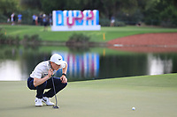 Marcus Kinhult (SWE) during the first round of the DP World Championship, Earth Course, Jumeirah Golf Estates, Dubai, UAE. 21/11/2019<br /> Picture: Golffile | Phil INGLIS<br /> <br /> <br /> All photo usage must carry mandatory copyright credit (© Golffile | Phil INGLIS)