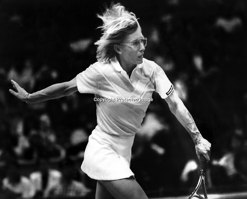 Tennis star Martina Navratilova <br />