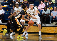Hind Ben Abdelkader of California in defense mode during the game against Long Beach State at Haas Pavilion in Berkeley, California on November 8th, 2013.  California defeated Long Beach State, 70-51.