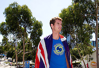 Andy Murray poses for photographs at Melbourne Park in advance of the Final of the Mens Singles..International Tennis - Australian Open Tennis - Sat 30  Jan 2010 - Melbourne Park - Melbourne - Australia ..© Frey - AMN Images, 1st Floor, Barry House, 20-22 Worple Road, London, SW19 4DH.Tel - +44 20 8947 0100.mfrey@advantagemedianet.com