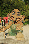 Troll figure in children's playground on Mount Floyen, city of Bergen, Norway