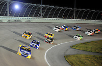 Nov. 14, 2008; Homestead, FL, USA; NASCAR Craftsman Truck Series driver Ron Hornaday Jr (33) leads the field during the Ford 200 at Homestead Miami Speedway. Mandatory Credit: Mark J. Rebilas-