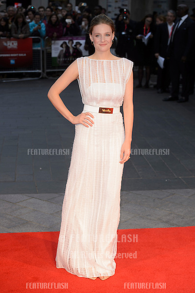 Romola Garai at the BFI London Film Festival premiere of &quot;Suffragette&quot; at the Odeon Leicester Square, London.<br /> October 7, 2015  London, UK<br /> Picture: Dave Norton / Featureflash