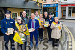 On M onday at Kirby's Brigue Inn Tralee,The Tralee branch of Irish Cancer Society launched their Daffodill Day for March 24th at tyhe launch Garda Evan Mcnamara, Chris Griffin (chairperson TBICS), and Cllr Sammy Locke. Back l-r: Ed O'Connor,Paul and Cathjerine Horan, Pat Hussey, Garda Cathy Murphy and Rita O'Sullivan.