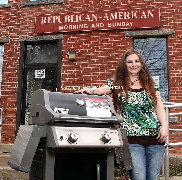 Torrington, CT-041313MK021 Torrington, CT-041313MK020 Amanda Hoetzl of Torrington is the winner of the grill the Republican-American raffled off at the Northwest Connecticut Chamber of Commerce's Home & Business Expo, held April 6 and 7 at the Torrington Armory. The gas grill, a Weber Spirit E-210, was donated by True Value Hardware of Litchfield. Michael Kabelka / Republican-American. Michael Kabelka / Republican-American.