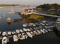 Yacht club aerial, Annisquam, Cape Ann, Mass low tide