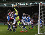 Neil Etheridge of Walsall pinches clear during the English League One match at Bramall Lane Stadium, Sheffield. Picture date: November 29th, 2016. Pic Simon Bellis/Sportimage