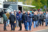 Swansea city fans arrive prior to kick of for the Sky Bet Championship match between Swansea City and Reading at the Liberty Stadium in Swansea, Wales, UK. 27th October, 2018