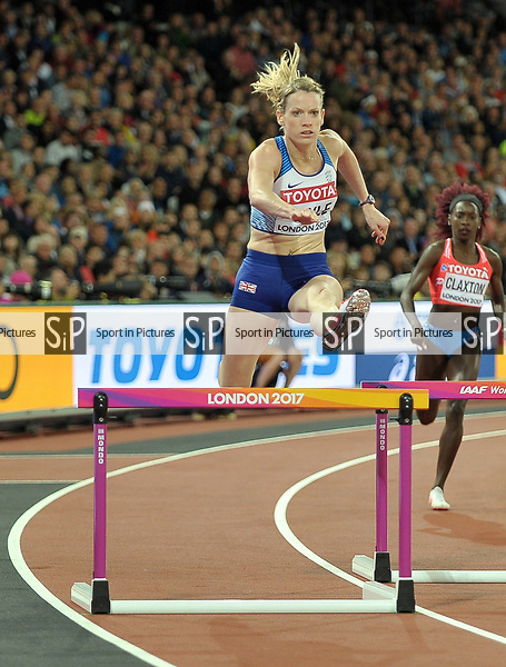 Eilidh DOYLE (GBR) in the womens 400m hurdles semi-finals. IAAF world athletics championships. London Olympic stadium. Queen Elizabeth Olympic park. Stratford. London. UK. 08/08/2017. ~ MANDATORY CREDIT Garry Bowden/SIPPA - NO UNAUTHORISED USE - +44 7837 394578