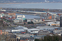 General view of the SA1 development in the docks area of Swansea, Wales, UK. Wednesday 30 January 2019