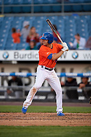 Syracuse Mets Danny Espinosa (18) bats during an International League game against the Charlotte Knights on June 11, 2019 at NBT Bank Stadium in Syracuse, New York.  Syracuse defeated Charlotte 15-8.  (Mike Janes/Four Seam Images)