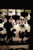 VIETNAM, Hanoi, a view of bustling city traffic through a store window in the old quarter