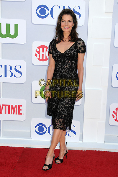 Sela Ward.CBS, CW, Showtime 2012 Summer TCA Party held at The Beverly Hilton Hotel, Beverly Hills, California, USA..July 29th, 2012.full length dress open toe shoes black lace .CAP/ADM/BP.©Byron Purvis/AdMedia/Capital Pictures.