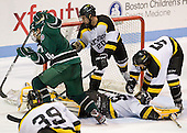 Kyle Greco (PSU - 9), Ben Iwanowski (WIT - 20), Alex Peck (WIT - 35), Shaun Jameson (WIT - 5) - The visiting Plymouth State University Panthers defeated the Wentworth Institute of Technology Leopards 2-1 on Monday, November 19, 2012, at Matthews Arena in Boston, Massachusetts.