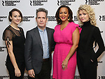"Sara Topham, Tom Hollander, Opal Alladin, and Scarlett Strallen  attends the ""Travesties"" Meets The Press on March 6, 2018 at the Roundabout Theatre in New York City."