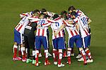 Atletico de Madrid's players during La Liga match.February 21,2015. (ALTERPHOTOS/Acero)
