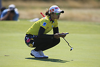 Pornanong Phatlum (THA) on the 2nd green during Round 4 of the Ricoh Women's British Open at Royal Lytham &amp; St. Annes on Sunday 5th August 2018.<br /> Picture:  Thos Caffrey / Golffile<br /> <br /> All photo usage must carry mandatory copyright credit (&copy; Golffile | Thos Caffrey)