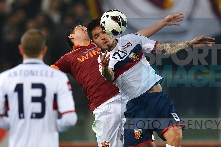 Ivan Piris Roma, Vargas Genoa .Roma 03/03/2013 Stadio Olimpico .Football Calcio 2012/2013 Serie A.Roma Vs Genoa .Foto Andrea Staccioli Insidefoto