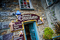 Thursday  19  June  2014<br /> <br /> Pictured: View of Chapel Chocolates shop, St.Davids Wales Re:  Views of St Davids