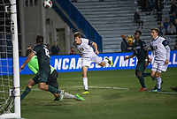 Santa Barbara, CA - Friday, December 7, 2018:  Akron men's soccer defeated Michigan State 5-1 in a semi-final match in the 2018 College Cup.  Braden Petno scores Akron's fifth goal.