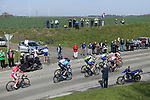 The breakaway group over 8 mins ahead during the 116th edition of Paris-Roubaix 2018. 8th April 2018.<br /> Picture: ASO/Pauline Ballet | Cyclefile<br /> <br /> <br /> All photos usage must carry mandatory copyright credit (&copy; Cyclefile | ASO/Pauline Ballet)