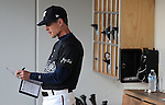 Reno Aces' manager Bret Butler works in the dugout during Friday's game, July 15, 2011 against the Colorado Springs Sky Sox, in Reno, Nev. The Aces won  6-3. .Photo by Cathleen Allison