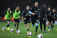 Martin Caceres of Uruguay (No 22) warms up ahead of kick-off during Brazil vs Uruguay, International Friendly Match Football at the Emirates Stadium on 16th November 2018