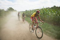 Ludwig De Winter (BEL/Wallonie - Bruxelles) eating dust<br /> <br /> 91st Schaal Sels 2016