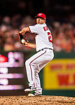15 August 2017: Washington Nationals pitcher Brandon Kintzler on the mound in relief against the Los Angeles Angels at Nationals Park in Washington, DC. The Nationals defeated the Angels 3-1 in the first game of their 2-game series. Mandatory Credit: Ed Wolfstein Photo *** RAW (NEF) Image File Available ***