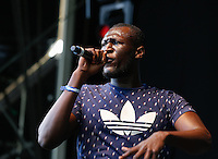 Stormzy performs during The New Look Wireless Music Festival at Finsbury Park, London, England on Saturday 04 July 2015. Photo by Andy Rowland.