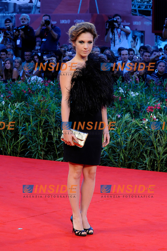 "- ""67 Mostra Internazionale D'Arte Cinematografica"". Friday, 2010 September 03, Venice ITALY..- In The Picture: The actress Isabella Ragonese on the red carpet for the premiere of the film ""SOMEWHERE""...Photo STEFANO MICOZZI / Insidefoto"