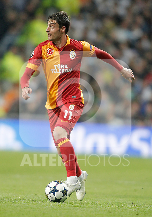 Galatasaray's Albert Riera during UEFA Champions League match. April 03, 2013. (ALTERPHOTOS/Alvaro Hernandez)