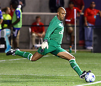 Tim Howard in the MLS All Stars v Everton 4-3 Everton win at Rio Tinto Stadium in Sandy, Utah on July 29, 2009