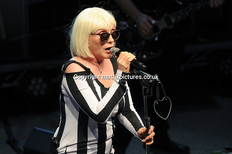 NON EXCLUSIVE PICTURE: PAUL TREADWAY / MATRIXPICTURES.CO.UK<br /> PLEASE CREDIT ALL USES<br /> <br /> WORLD RIGHTS<br /> <br /> American rock band Blondie perform live at the O2 Shepherds Bush Empire, in London.<br /> <br /> JUNE 30th 2014<br /> <br /> REF: PTY 143108